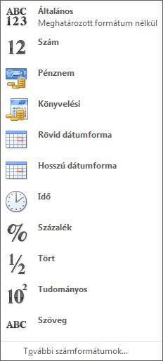 Számformátum gyűjtemény
