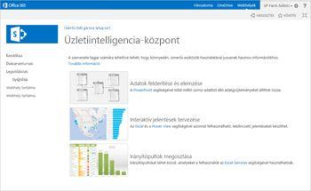 Üzletiintelligencia-központ webhely