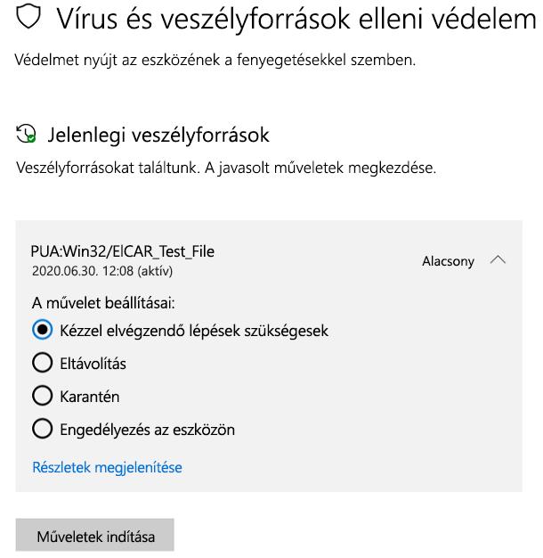 Mit tehetek, ha a Windows biztonság vélhetően nemkívánatos alkalmazást észlelt?