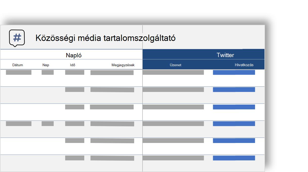 közösségi hálózat tartalom naptár elvi képe