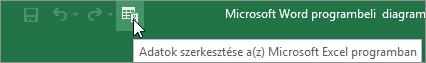 Adatok szerkesztése a Microsoft Excel ikonra a gyorselérési eszköztáron