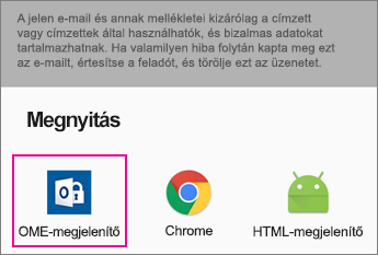 Android 2 Gmail az OME Viewer