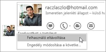 Képernyőkép a OneNote 2016 megosztást leállító lehetőségeiről.