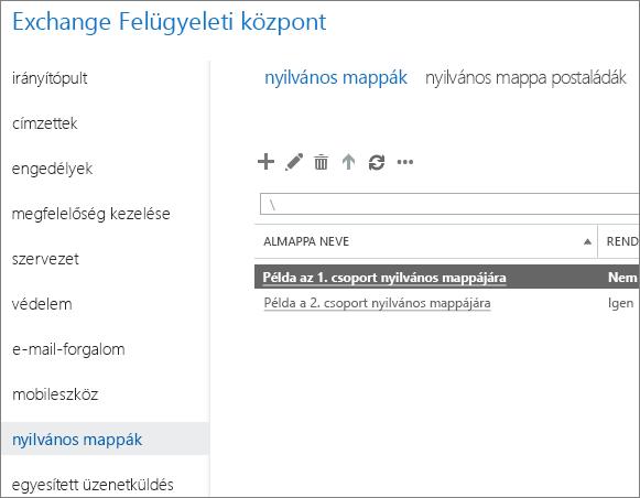 Nyilvános mappa megtekintése a 5.7.135-ös DSN-probléma elhárításához
