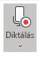 A Diktálás ikon megjelenítése kijelölés után