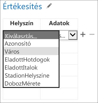 Az Access-alkalmazásban megjelenítendő adatok kiválasztása az Office-alkalmazáshoz