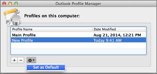 Set default profile