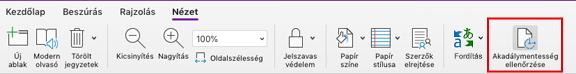 Mac OneNote – jelölje be a kisegítő lehetőségek eszköz