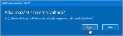 Az Office 365 kapcsoló alkalmazások figyelmeztető üzenet