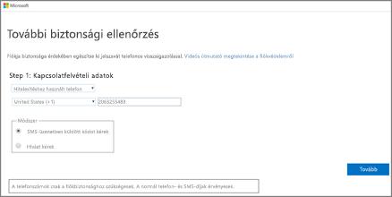 Válassza ki a hitelesítési módot, és kövesse a képernyőn megjelenő utasításokat.