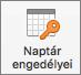 Mac naptár engedélyek gomb az Outlook 2016-ban