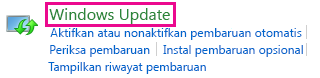 Link Pembaruan Windows Windows 8 di Kontrol Panel