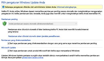 Pengaturan Pembaruan Windows Windows 8 di Panel Kontrol