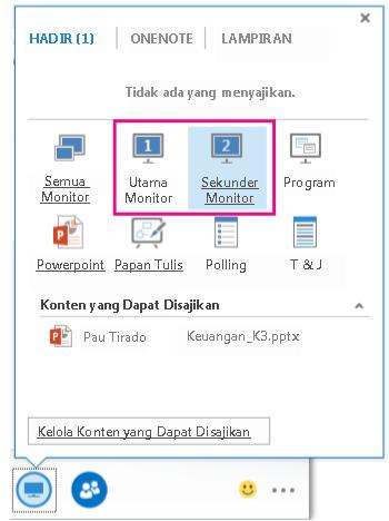 Present dialog box