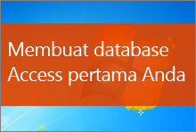 Membuat database Access 2013 pertama Anda