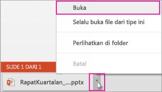 Buka file yang Anda simpan secara lokal