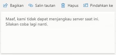Maaf, kami tidak bisa menjangkau server sekarang harap coba lagi situs web yang lebih baru
