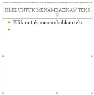 Menambahkan teks ke tempat penampung