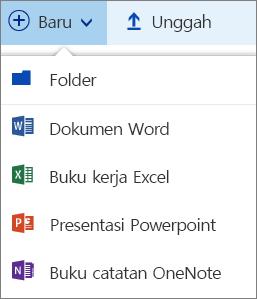 Menu baru di OneDrive
