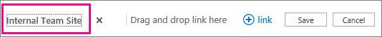 Untuk mengganti nama hyperlink di bagian atas halaman Beranda Anda, pilih Link Edit.
