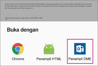 OME Viewer dengan aplikasi Android Email 2