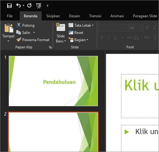 Menampilkan Tema Hitam di PowerPoint 2016 untuk Windows