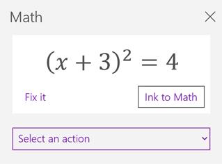 Persamaan matematika di panel tugas matematika