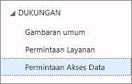 Daftar semua permintaan akses data Anda