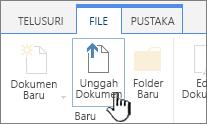 Mengunggah dokumen tombol di pita