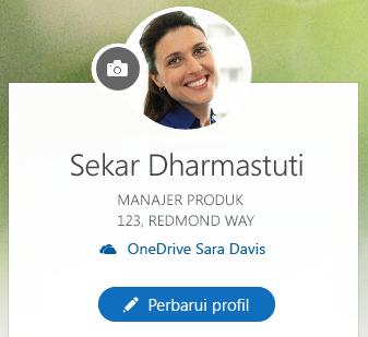 Klik Perbarui profil untuk mengubah informasi Anda