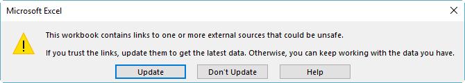 Kotak dialog referensi rusak di Excel