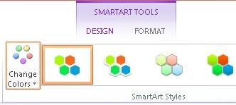 Tombol Ubah Warna di grup Model SmartArt