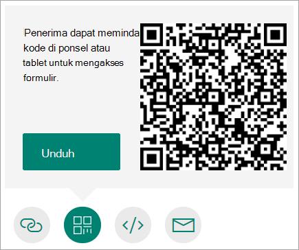 Mengirim kode QR ke telepon yang dapat dipindai penerima di telepon atau tablet