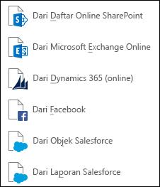 Mendapatkan data dari Layanan Online