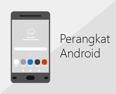 Klik untuk menyiapkan Office dan email di perangkat Android