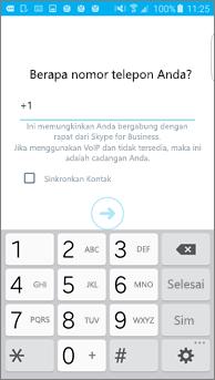 Cuplikan layar jendela tempat Anda memasukkan nomor panggil kembali Anda di ponsel Android