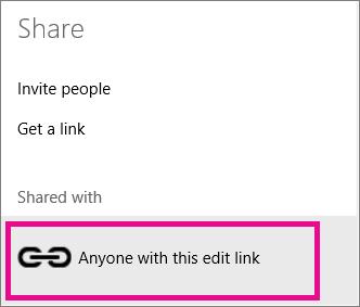 Memilih link edit