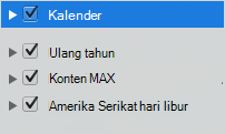 Daftar kategori kalender