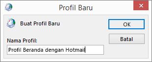 Dialog profil baru