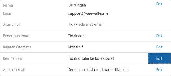 Pilih Item terkirim > Edit.