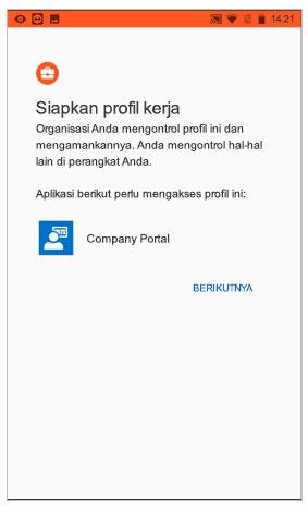 Menyiapkan profil kerja