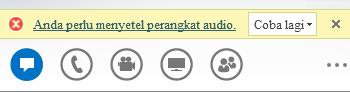 Cuplikan layar pesan kesalahan