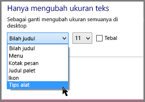 Pengaturan format TipAlat Windows 8