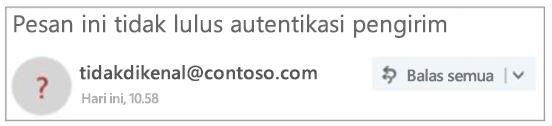 Pengirim tidak terautentikasi di Outlook