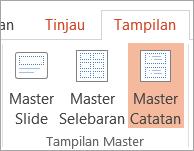 Menampilkan Catatan Master