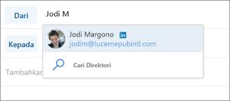 Disarankan kontak LinkedIn