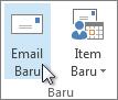 Klik email baru.