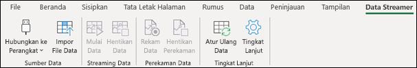 Tab pita pita Data Excel