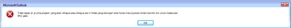 Kesalahan Outlook tidak dapat menampilkan folder