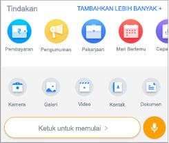 Cuplikan layar tindakan Tambahkan di Kaizala